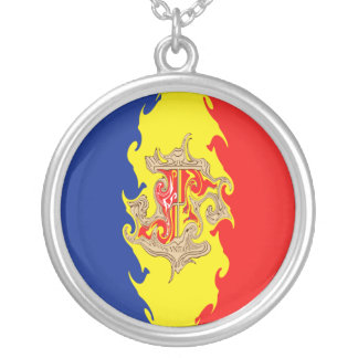 Andorra Gnarly Flag Round Pendant Necklace