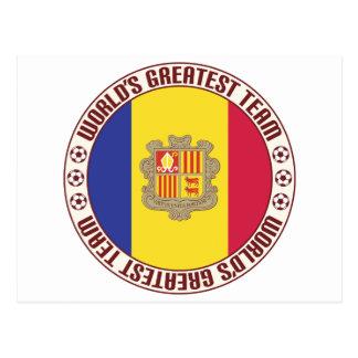 Andorra Greatest Team Postcard