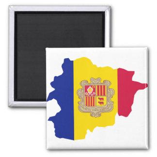Andorra map AD 2 Inch Square Magnet