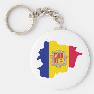 Andorra map AD Basic Round Button Keychain