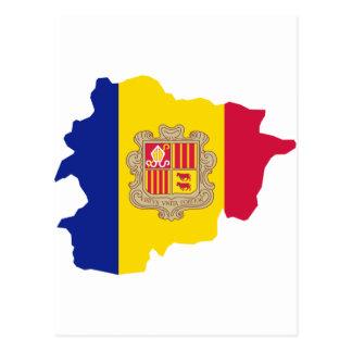 Andorra map AD Postcard