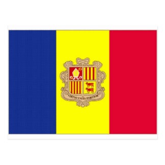 Andorra National Flag Postcard
