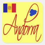 Andorra Pegatina Cuadrada