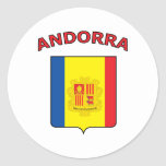 Andorra Pegatinas Redondas