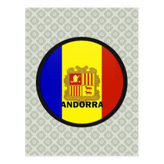 Andorra Roundel quality Flag Postcard
