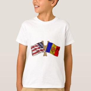 Andorra USA Friendship Flag T-Shirt