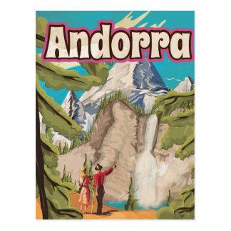 Andorra Vintage Travel Poster Postcard