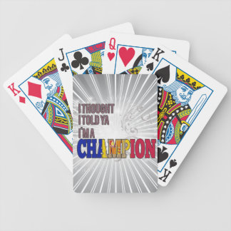 Andorran and a Champion Bicycle Playing Cards