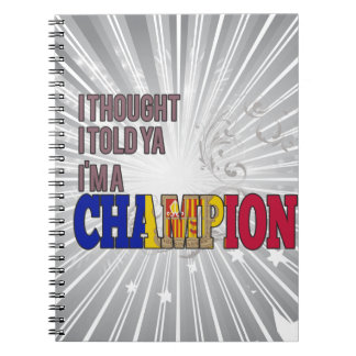 Andorran and a Champion Notebook