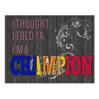 Andorran and a Champion Postcard