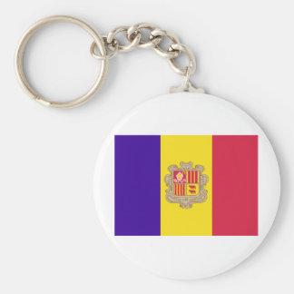Andorran Flag Basic Round Button Keychain