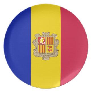Andorran Flag Melamine Plate