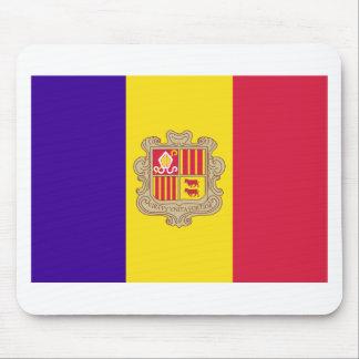 Andorran Flag Mouse Pad