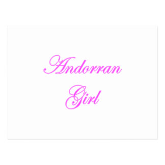 Andorran Girl Postcard