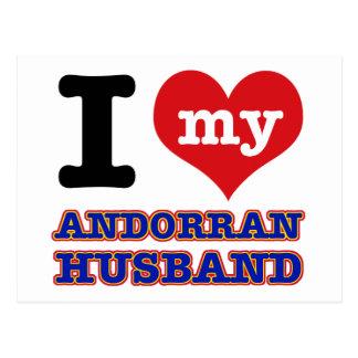 Andorran I heart designs Postcard