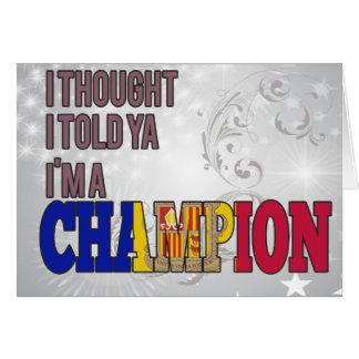 Andorrano y un campeón tarjetas