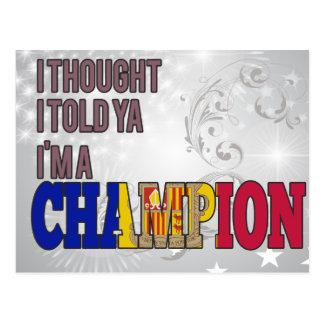 Andorrano y un campeón postal