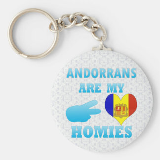 Andorrans are my Homies Basic Round Button Keychain