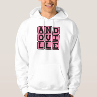 Andouille, salchicha deliciosa suéter con capucha