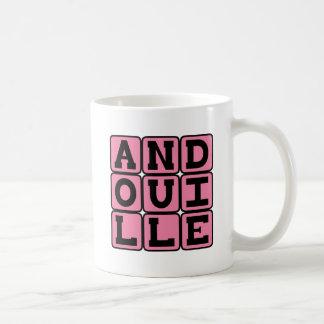 Andouille, salchicha deliciosa taza