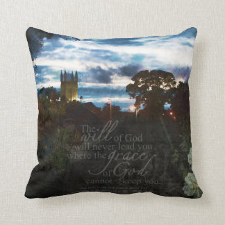Andover St. Marys Church at night Pillow