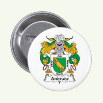 Andrade Family Crest Button