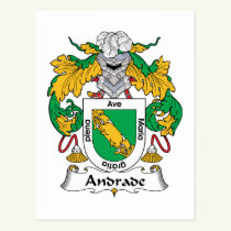 Andrade Family Crest Postcard