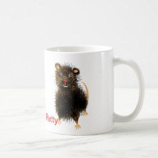 Andrajoso la rata caprichosa divertida linda tazas de café