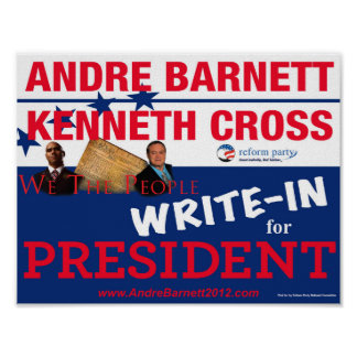 Andre Barnett y poster de la campaña de la cruz
