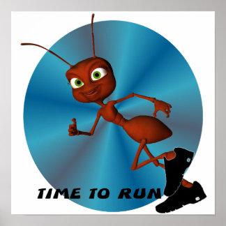 Andre el poster corriente de la hormiga