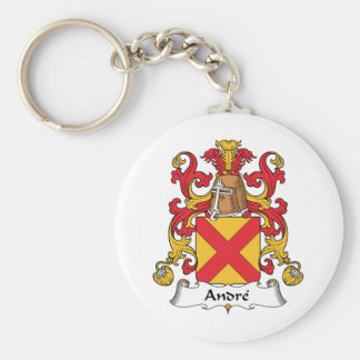 Andre Family Crest Basic Round Button Keychain