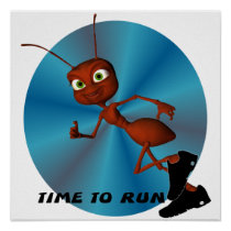 Andre The Ant Running Poster