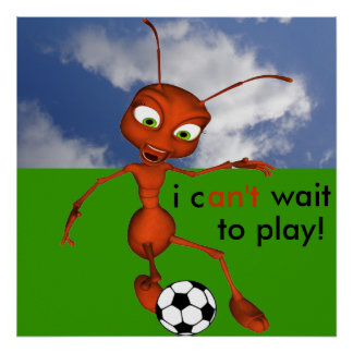 Andre The Ant Soccer Poster