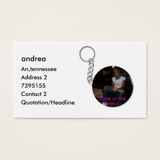 andrea, andrea, An,tennessee, Address 2, 739515... Business Card