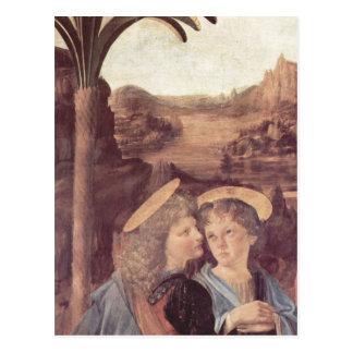 Andrea del Verrocchio Die Taufe Christi, Detail: E Postcard