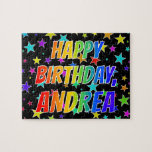"""[ Thumbnail: """"Andrea"""" First Name, Fun """"Happy Birthday"""" Jigsaw Puzzle ]"""