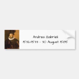 Andrea Gabrieli Bumper Sticker