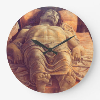 ANDREA MANTEGNA - Lamentation of Christ 1480 Large Clock