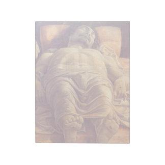 ANDREA MANTEGNA - Lamentation of Christ 1480 Notepad