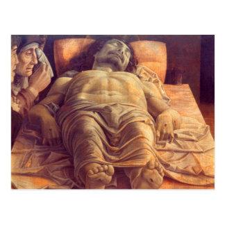 ANDREA MANTEGNA - Lamentation of Christ 1480 Postcard