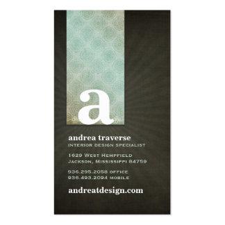 Andrea Monogram Business Cards