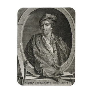 Andrea Palladio (1508-80) engraved by Bernard Pica Magnet