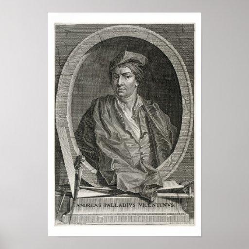 Andrea Palladio (1508-80) grabado por la pica de B Impresiones