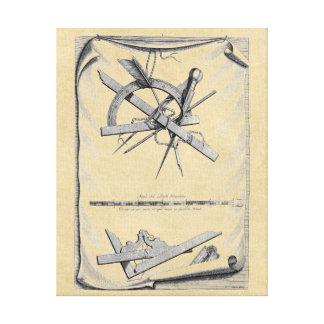Andrea Palladio Drafting Tools Canvas Print