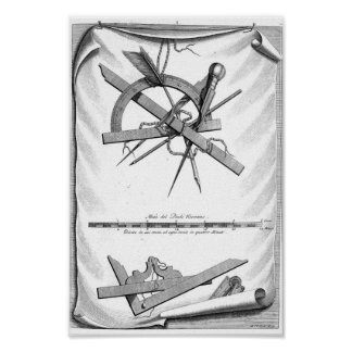 Andrea Palladio Drafting Tools Poster