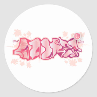 Andrea Round Sticker