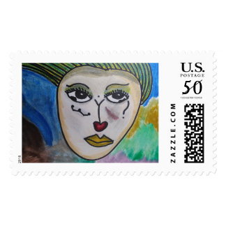 Andrea - Warrior For Abused Women (postage stamp) Postage