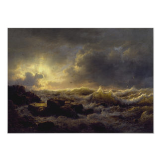 Andreas Achenbach - Clearing Up — Coast of Sicily Poster