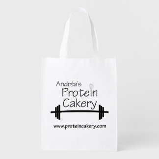 Andréa's Protein Cakery Logo Reusable Grocery Bag