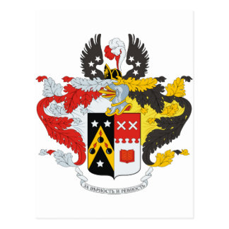Andreev Family Coat of Arms / Crest Postcard
